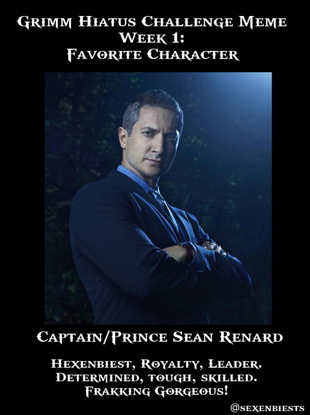 Week 1 Fav Character Sean Renard